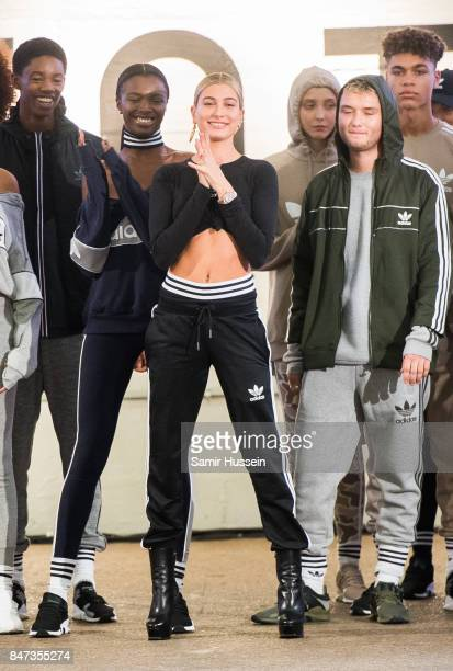 Hailey Baldwin attends Streets of EQT a fashion show celebrating street style at The Old Truman Brewery on September 15 2017 in London England
