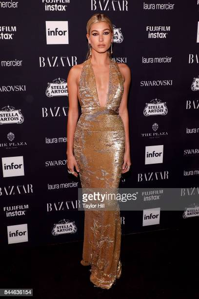 Hailey Baldwin attends the 2017 Harper ICONS party at The Plaza Hotel on September 8 2017 in New York City