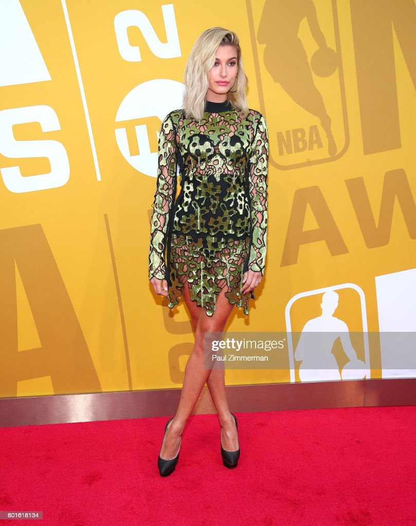 Hailey Baldwin attends the 2017 NBA Awards at Basketball City - Pier 36 - South Street on June 26, 2017 in New York City.