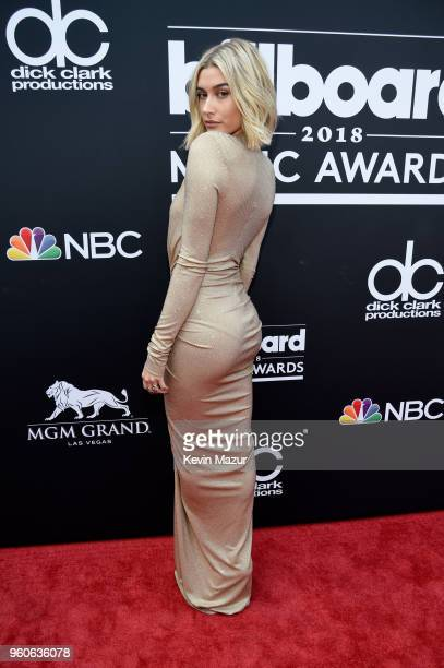 Hailey Baldwin attends the 2018 Billboard Music Awards at MGM Grand Garden Arena on May 20 2018 in Las Vegas Nevada