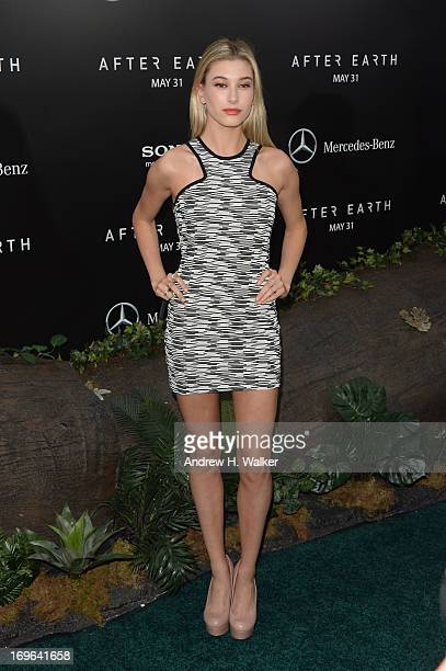 Hailey Baldwin attends the After Earth New York Premiere at Ziegfeld Theater on May 29 2013 in New York City