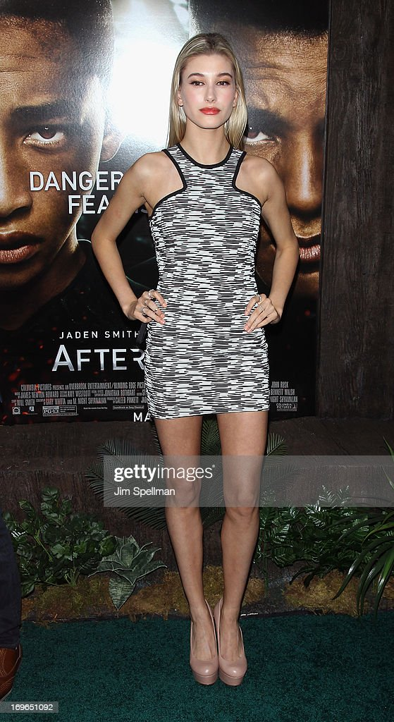 Hailey Baldwin attends the 'After Earth' premiere at the Ziegfeld Theater on May 29, 2013 in New York City.