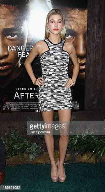 Hailey Baldwin attends the 'After Earth' premiere at the Ziegfeld Theater on May 29 2013 in New York City