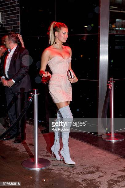 Hailey Baldwin attends the after Party at the Standard Hotel following Manus x Machina Fashion In An Age Of Technology Costume Institute Gala on May...