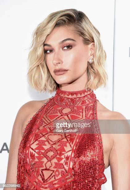 Hailey Baldwin attends 'The American Meme' screening premiere during the 2018 Tribeca Film Festival at Spring Studios on April 27 2018 in New York...