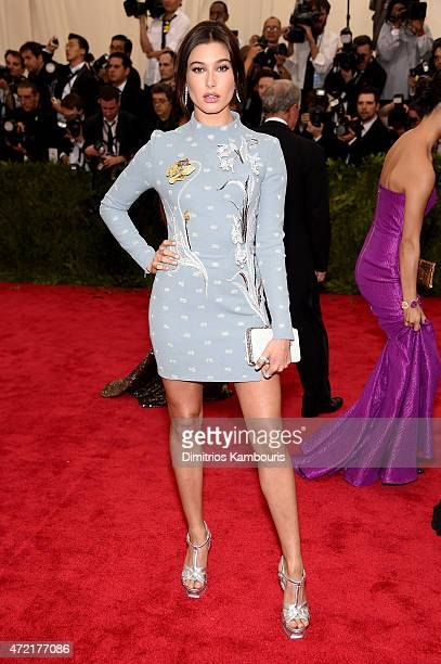 Hailey Baldwin attends the 'China Through The Looking Glass' Costume Institute Benefit Gala at the Metropolitan Museum of Art on May 4 2015 in New...