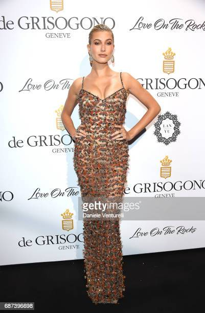 Hailey Baldwin attends the De Grisogono 'Love On The Rocks' party during the 70th annual Cannes Film Festival at Hotel du CapEdenRoc on May 23 2017...