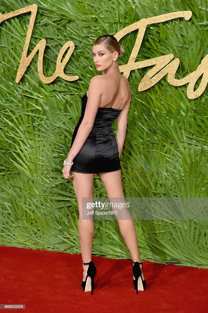 Hailey Baldwin attends The Fashion Awards 2017 in partnership with Swarovski at Royal Albert Hall on December 4, 2017 in London, England.