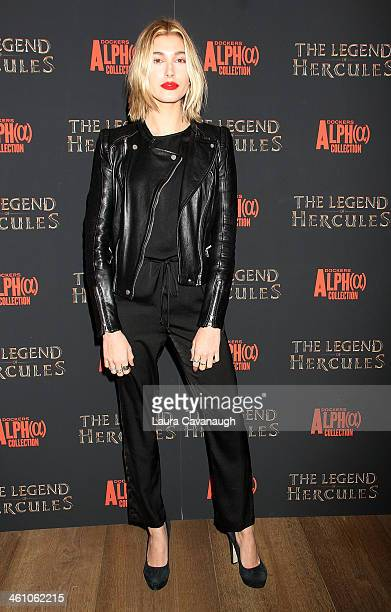 Hailey Baldwin attends The Legend Of Hercules premiere at the Crosby Street Hotel on January 6 2014 in New York City