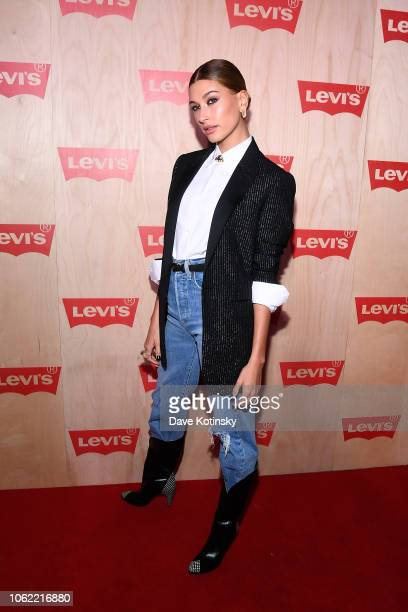 Hailey Baldwin attends the Levi's Times Square Store Opening on November 15 2018 in New York City