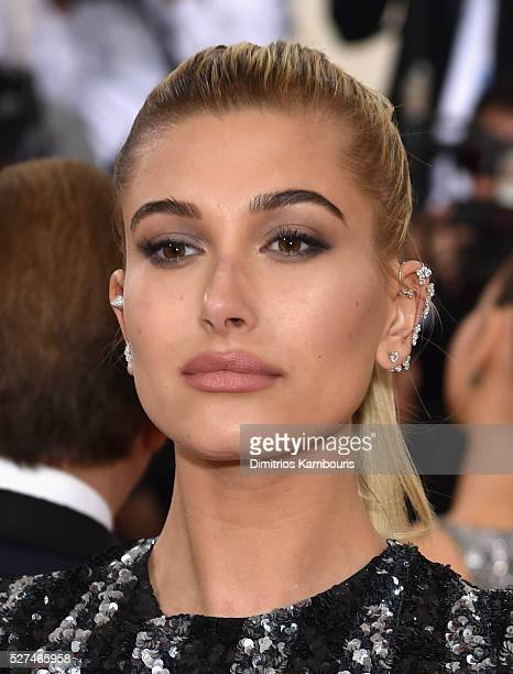 Hailey Baldwin attends the 'Manus x Machina Fashion In An Age Of Technology' Costume Institute Gala at Metropolitan Museum of Art on May 2 2016 in...