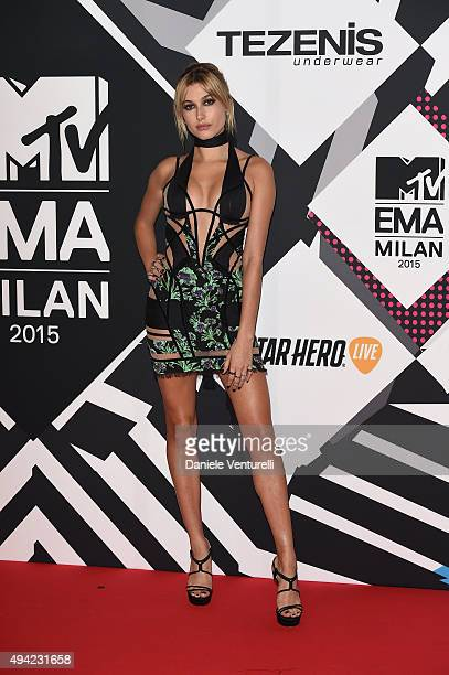 Hailey Baldwin attends the MTV EMA's 2015 at Mediolanum Forum on October 25 2015 in Milan Italy
