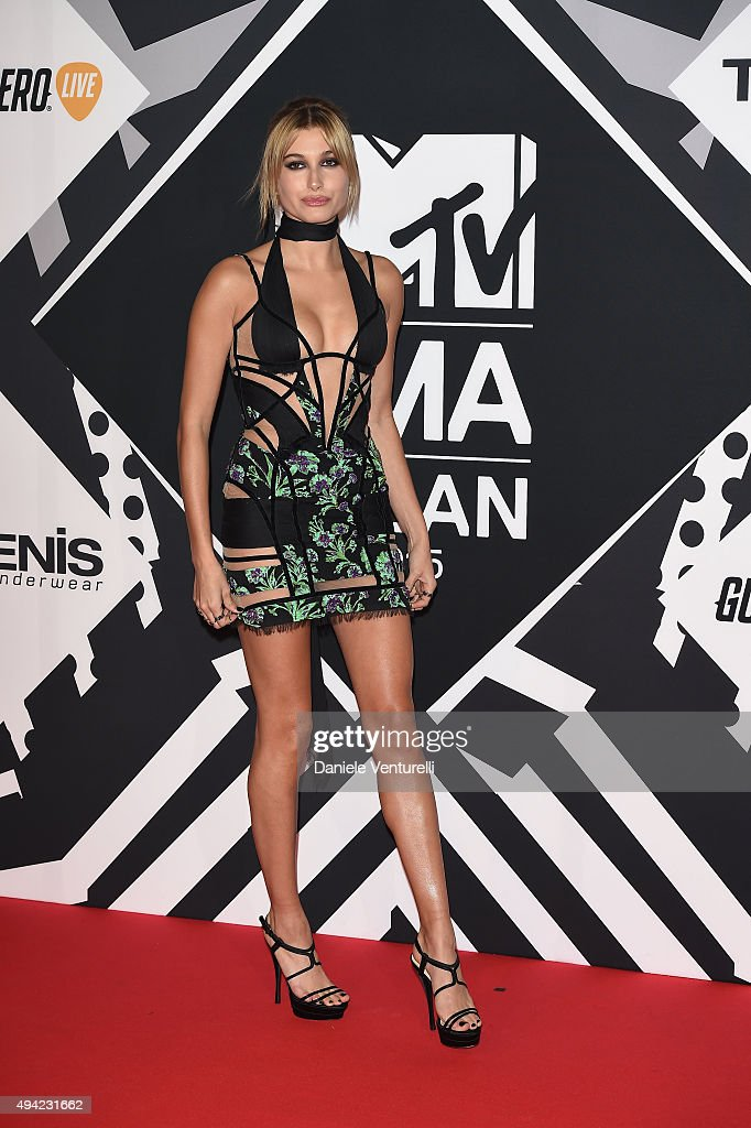 Hailey Baldwin attends the MTV EMA's 2015 at Mediolanum Forum on October 25, 2015 in Milan, Italy.