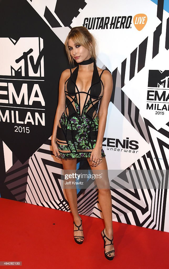 Hailey Baldwin attends the MTV EMA's 2015 at the Mediolanum Forum on October 25, 2015 in Milan, Italy.