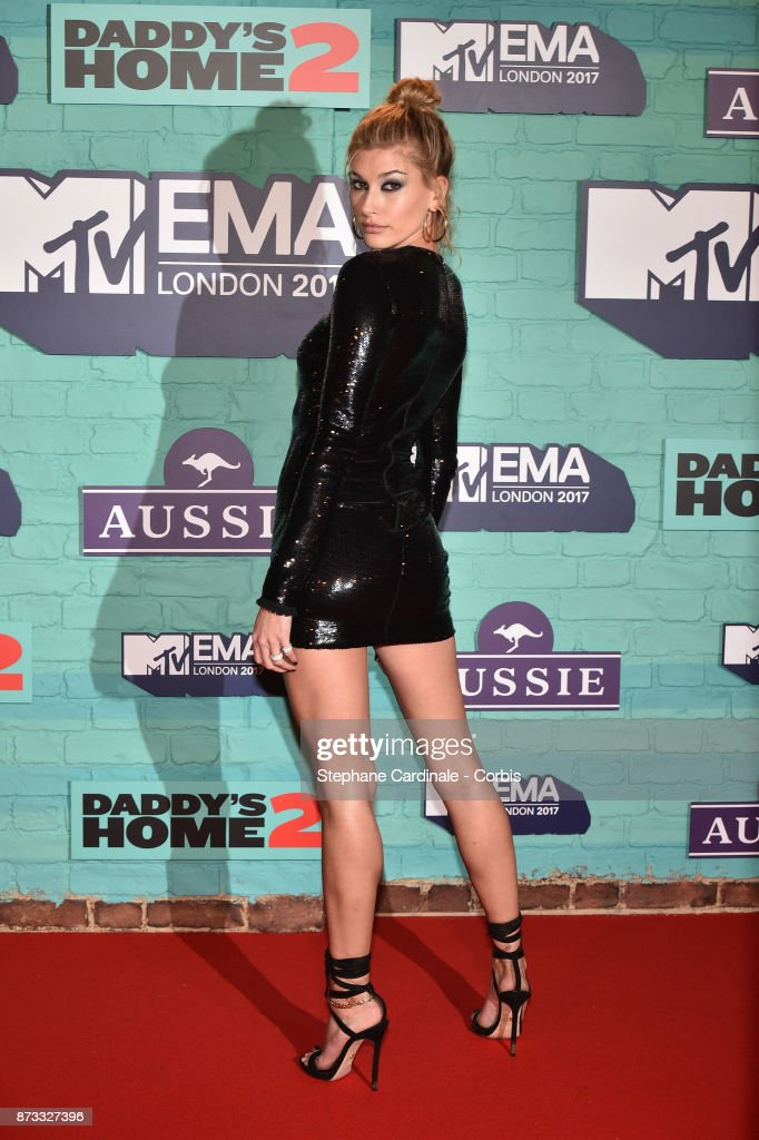 Hailey Baldwin attends the MTV EMAs 2017 at The SSE Arena, Wembley on November 12, 2017 in London, England.