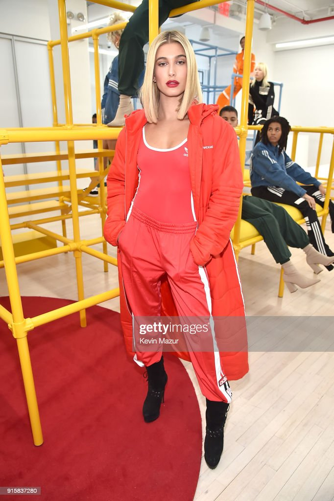 Hailey Baldwin attends the presentation for adidas Originals by Danielle Cathari on February 8, 2018 in New York City.