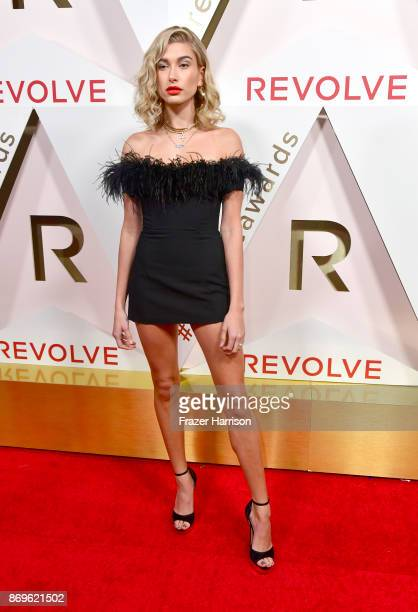 Hailey Baldwin attends the #REVOLVEawards at DREAM Hollywood on November 2 2017 in Hollywood California