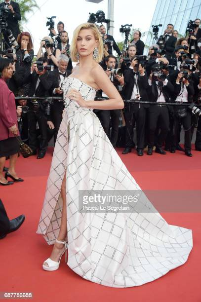Hailey Baldwin attends the The Beguiled screening during the 70th annual Cannes Film Festival at Palais des Festivals on May 24 2017 in Cannes France