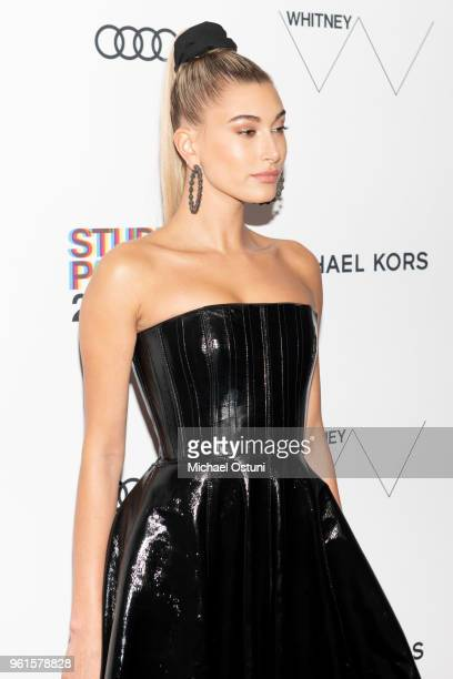 Hailey Baldwin attends the Whitney Museum Celebrates The 2018 Annual Gala And Studio Party at The Whitney Museum of American Art on May 22 2018 in...