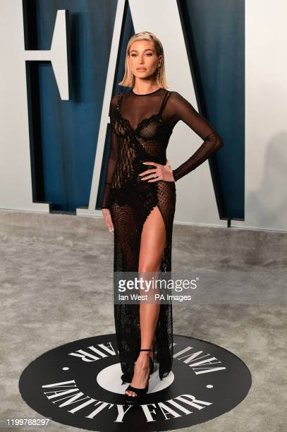 Hailey Baldwin Bieber attending the Vanity Fair Oscar Party held at the Wallis Annenberg Center for the Performing Arts in Beverly Hills Los Angeles...