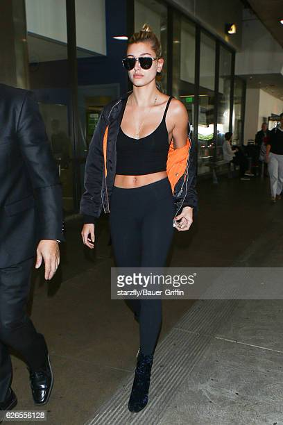 Hailey Baldwin is seen at LAX on November 29 2016 in Los Angeles California
