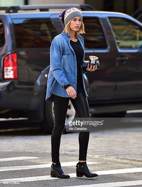 Hailey Baldwin is seen in Tribeca on October 30 2014 in New York City