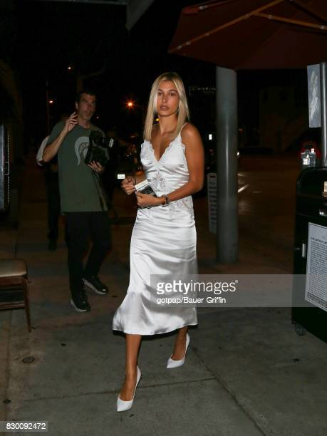 Hailey Baldwin is seen on August 10 2017 in Los Angeles California