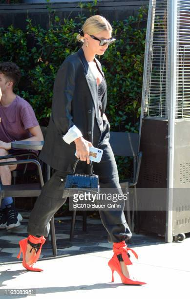 Hailey Baldwin is seen on August 21 2019 in Los Angeles California