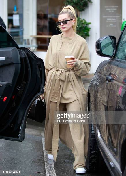Hailey Baldwin is seen on December 06, 2019 in Los Angeles, California.