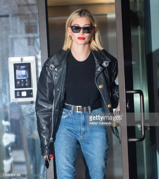 Hailey Baldwin is seen on February 28 2020 in New York City