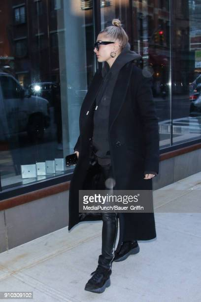 Hailey Baldwin is seen on January 25 2018 in New York City