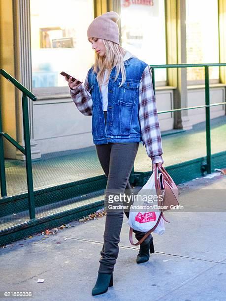 Hailey Baldwin is seen on November 08 2016 in New York City