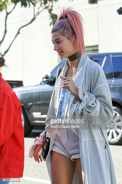 Hailey Baldwin is seen on November 10 2016 in Los Angeles California