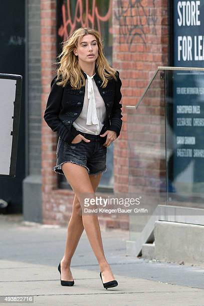 Hailey Baldwin is seen on October 22 2015 in New York City