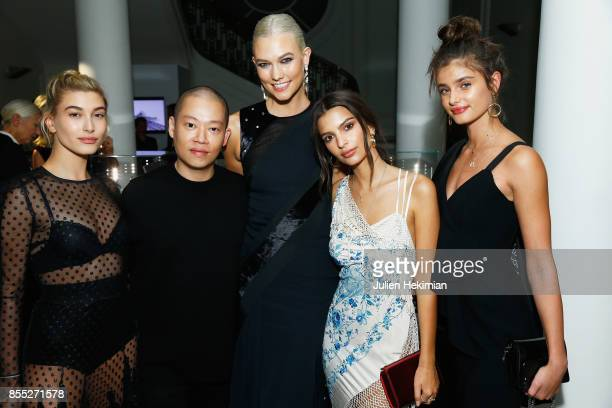 Hailey Baldwin Jason Wu Karlie Kloss Emily Ratajkowski and Taylor Hill attend the Atelier Swarovski By Jason Wu dinner as part of the Paris Fashion...