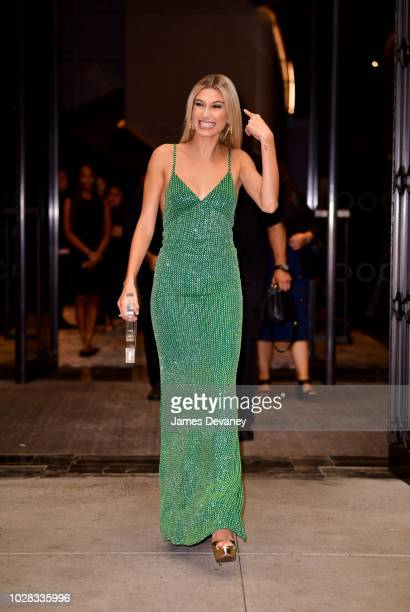 Hailey Baldwin leaves the Daily Front Row's 2018 Fashion Media Awards at Park Hyatt New York on September 6 2018 in New York City