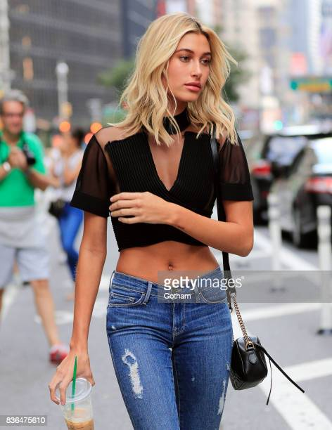 Hailey Baldwin on August 21, 2017 in New York City.