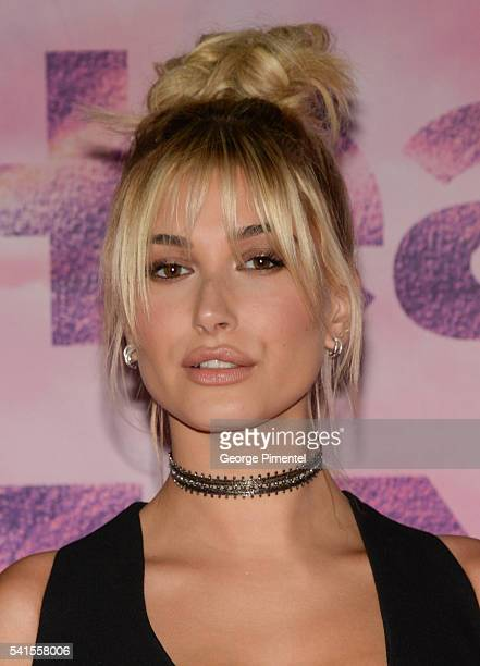 Hailey Baldwin poses in the press room at the 2016 iHeartRADIO MuchMusic Video Awards at MuchMusic HQ on June 19 2016 in Toronto Canada