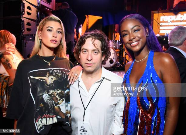 Hailey Baldwin Republic Records President Charlie Walk and Justine Skye attend the VMA after party hosted by Republic Records and Cadillac at TAO...
