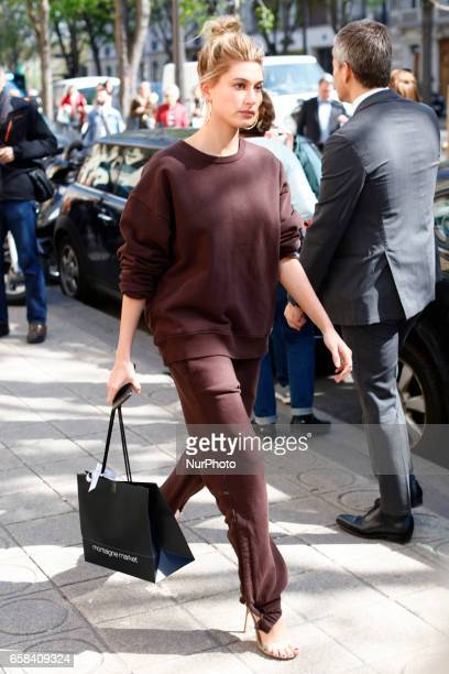 Hailey Baldwin seen doing some shopping in Paris France on March 27 2017