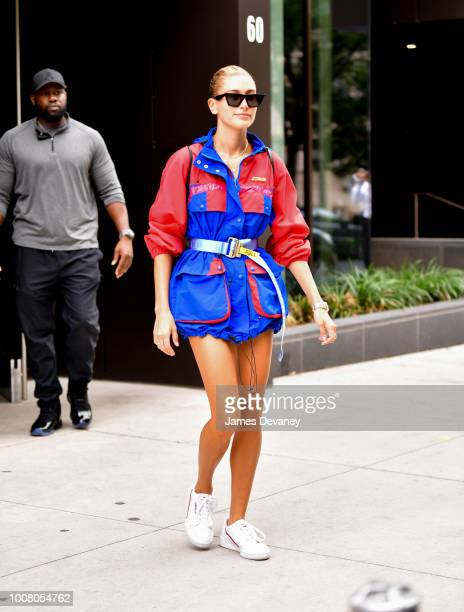 Hailey Baldwin seen on the streets of Williamsburg on July 30 2018 in New York City