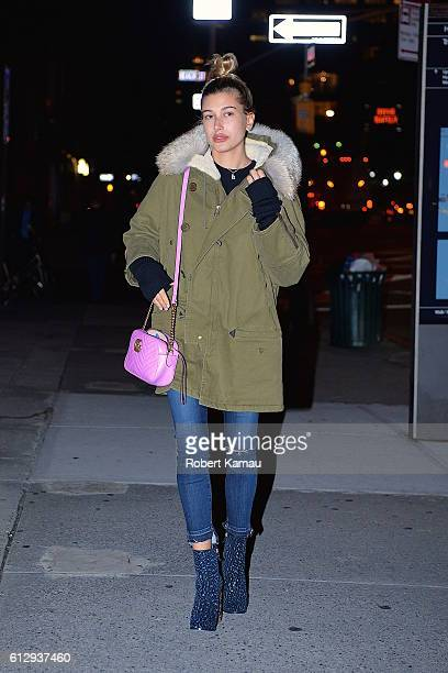 Hailey Baldwin seen out in Tribeca on October 5 2016 in New York City