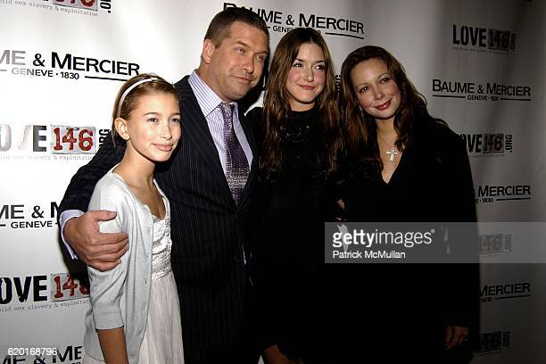 Hailey Baldwin Stephen Baldwin Alaia Bladwin and Kennya Baldwin attend Baume Mercier and Love146 Fund Raiser at Helen Mills Event Space on November...