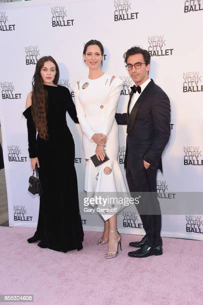 Hailey Benton Gates Rebecca Hall and Fernando Garcia attend the New York City Ballet's 2017 Fall Fashion gala at David H Koch Theater at Lincoln...