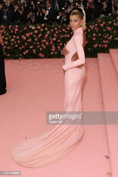 Hailey Bieber attends the 2019 Met Gala celebrating Camp Notes on Fashion at The Metropolitan Museum of Art on May 6 2019 in New York City