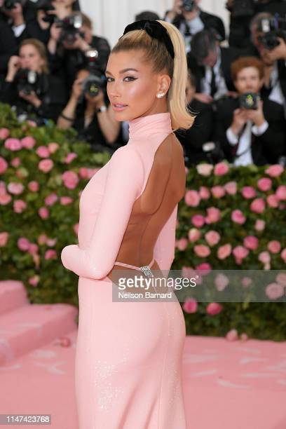 Hailey Bieber attends The 2019 Met Gala Celebrating Camp: Notes on Fashion at Metropolitan Museum of Art on May 06, 2019 in New York City.