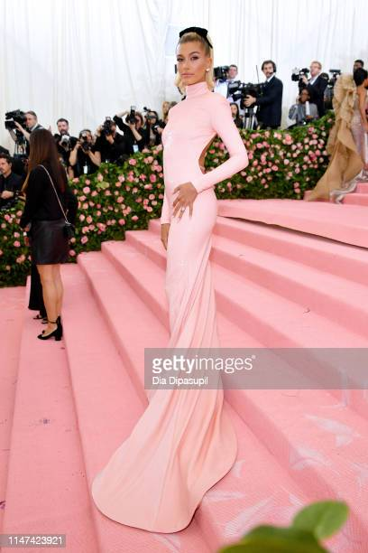 Hailey Bieber attends The 2019 Met Gala Celebrating Camp Notes on Fashion at Metropolitan Museum of Art on May 06 2019 in New York City