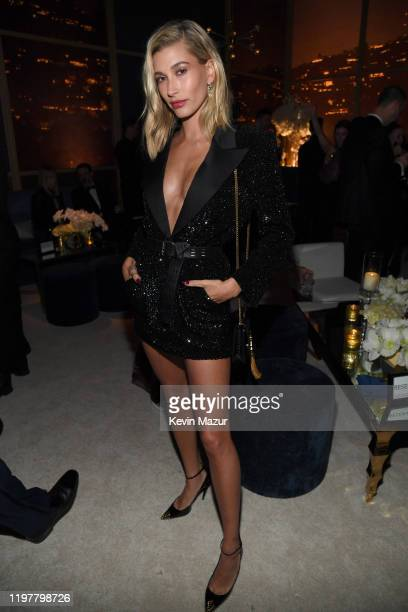 Hailey Bieber attends The 2020 InStyle And Warner Bros 77th Annual Golden Globe Awards PostParty at The Beverly Hilton Hotel on January 05 2020 in...