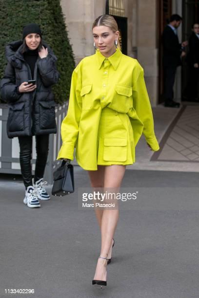Hailey Bieber Baldwin is seen on March 03 2019 in Paris France