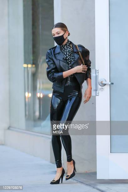 Hailey Bieber is seen on November 20 2020 in Los Angeles California